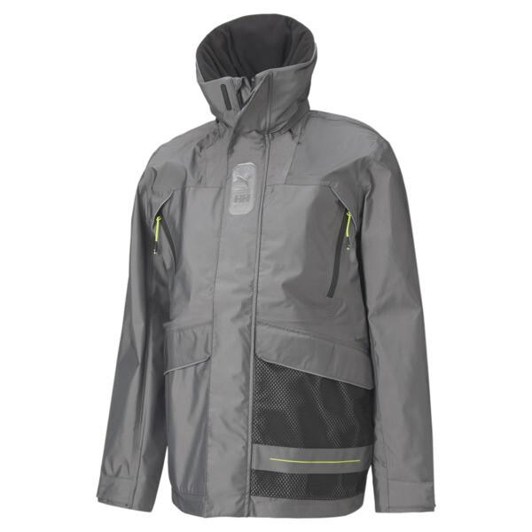 puma x helly hansen tech men's jacket in black, size xl