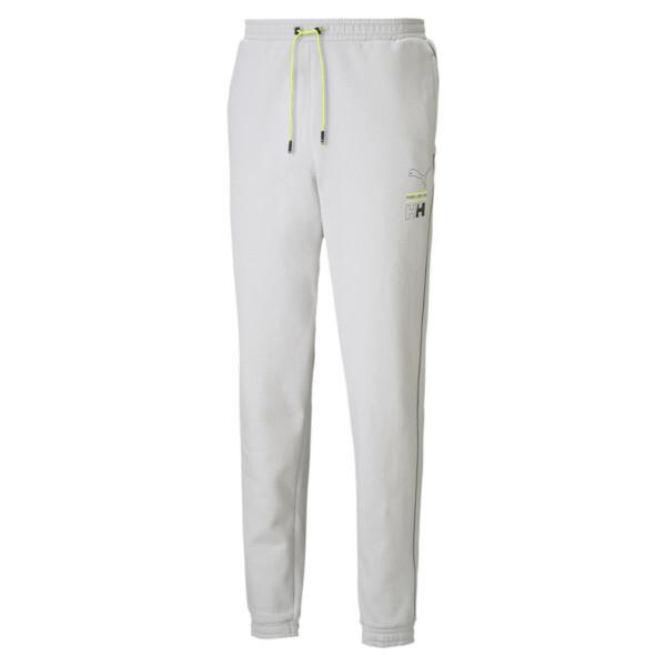 puma x helly hansen men's sweatpants in glacier grey, size xl