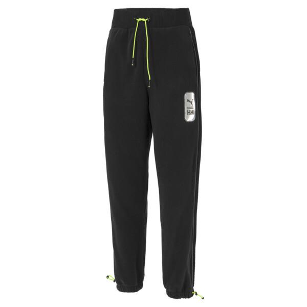 puma x helly hansen women's polar fleece pants in black, size m