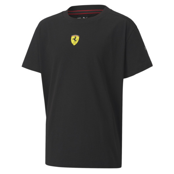 puma scuderia ferrari race kids' street t-shirt in black, size xs