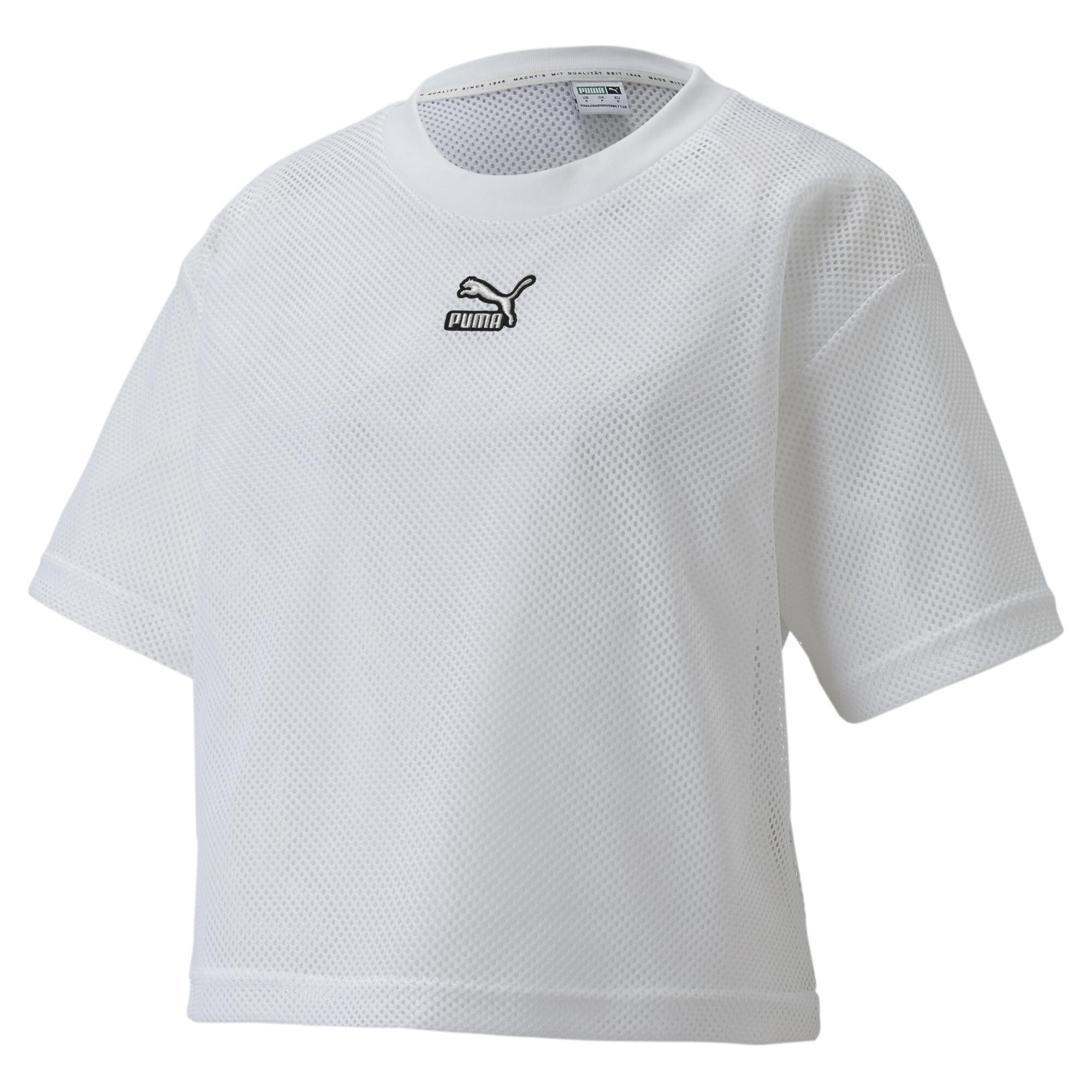 【プーマ公式通販】 プーマ CLASSICS メッシュ Tシャツ 半袖 ウィメンズ ウィメンズ Puma White  PUMA.com