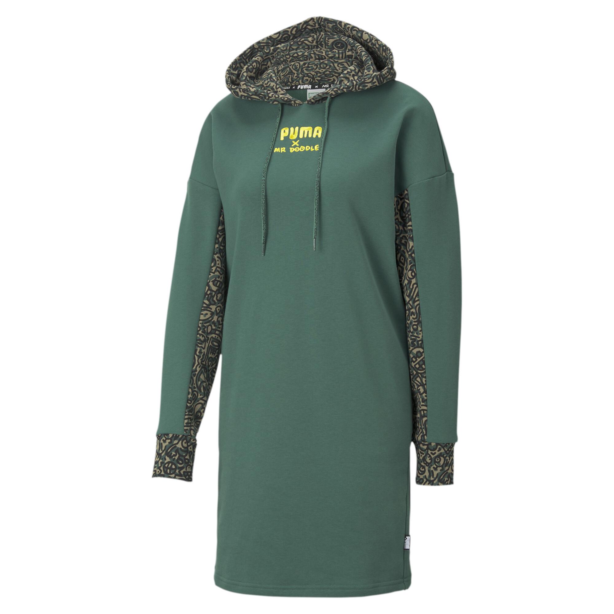 【プーマ公式通販】 プーマ PUMA x MR DOODLE ウィメンズ フーデッド ドレス ウィメンズ Covert Green  PUMA.com