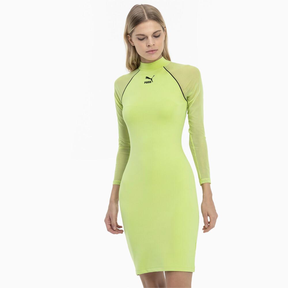 Изображение Puma Облегающее платье с длинными рукавами Tech Clash #1