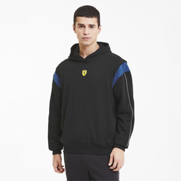Puma Scuderia Ferrari Race Street Men's Hoodie In Black, Size S