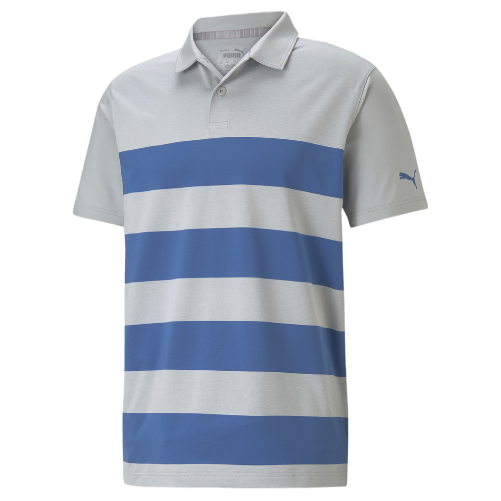 Image PUMA MATTR Kiwi Striped Men's Golf Polo Shirt #1