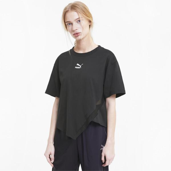 puma t7 2020 fashion women's t-shirt in cotton black, size l