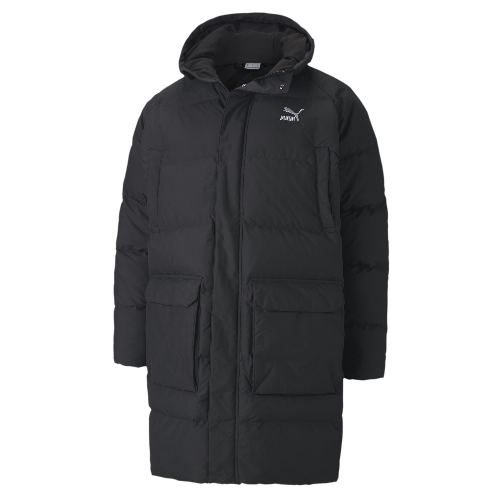 【プーマ公式通販】 プーマ CLASSICS ロング ダウン ジャケット メンズ Puma Black |PUMA.com