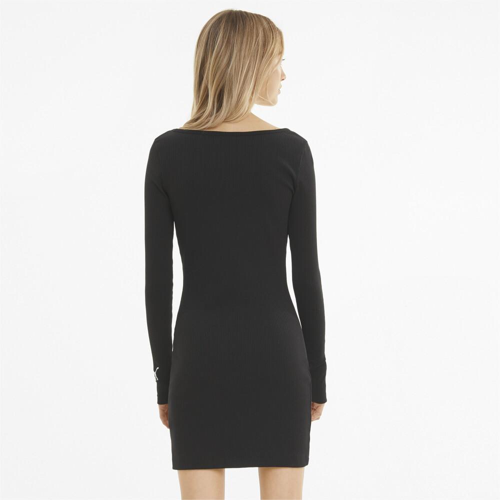 Image PUMA Classics Ribbed Bodycon Women's Dress #2