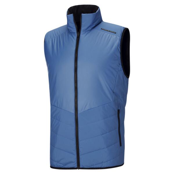 puma porsche design men's reversible padded vest in parisian blue, size s