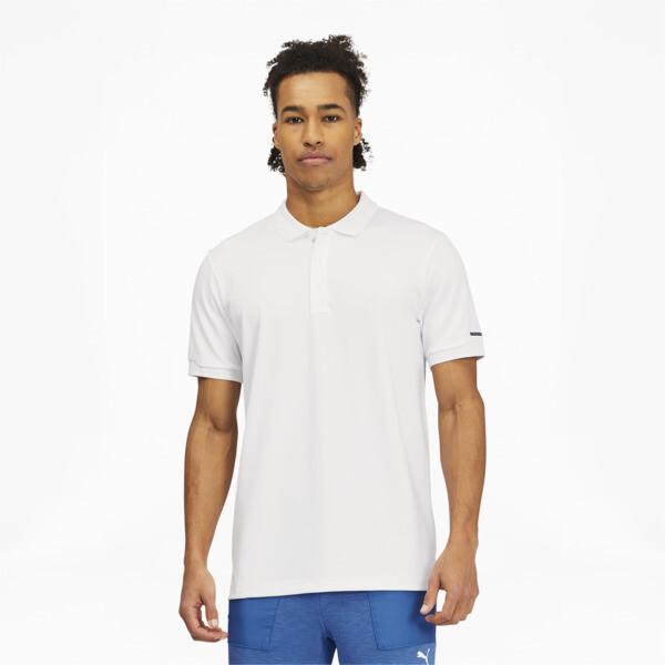 puma porsche design men's polo in white, size s