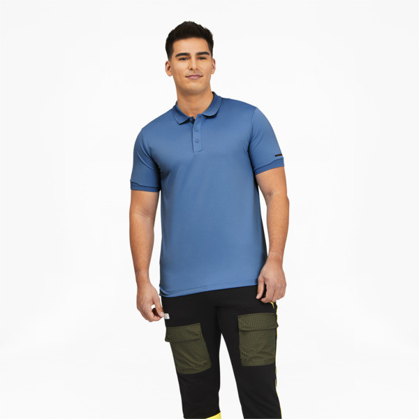puma porsche design men's polo in parisian blue, size s