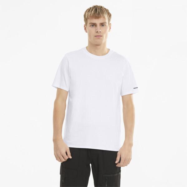 puma porsche design essential men's t-shirt in white, size s