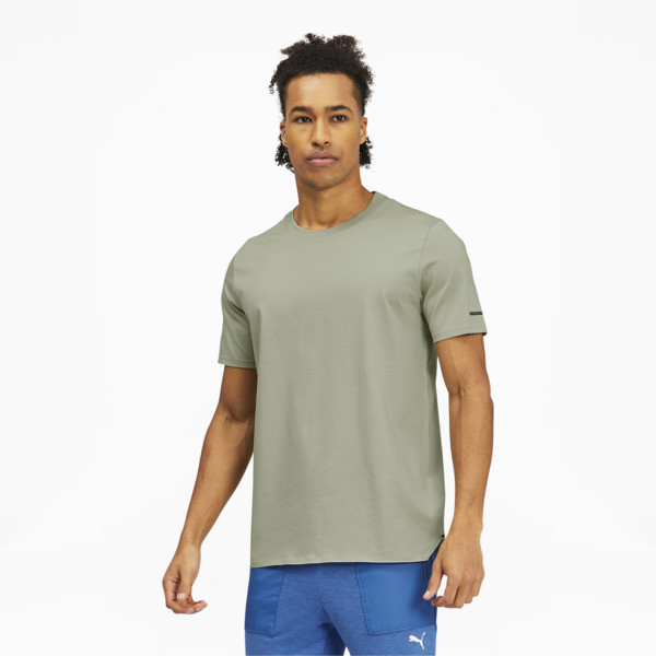 puma porsche design essential men's t-shirt in desert sage, size s