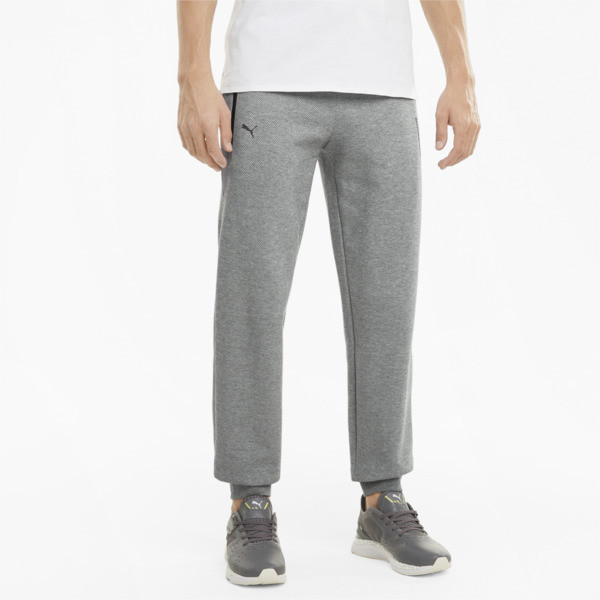 puma porsche design men's sweatpants in medium grey heather, size s