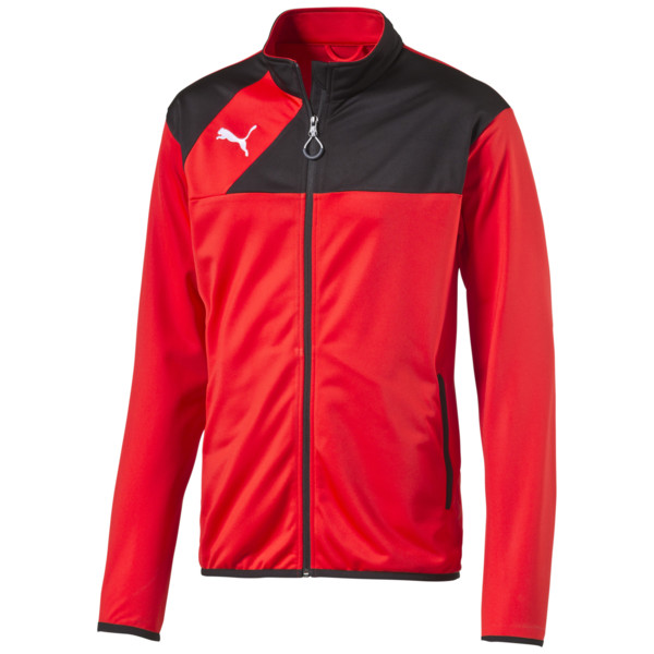 Football Esquadra Poly Training Jacket, puma red-black, large