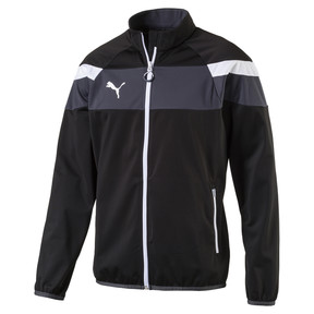 Thumbnail 1 of Football  Spirit II Poly Training Jacket, black-white, medium