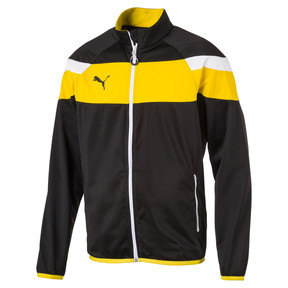 Thumbnail 1 of Football  Spirit II Poly Training Jacket, black-cyber yellow, medium