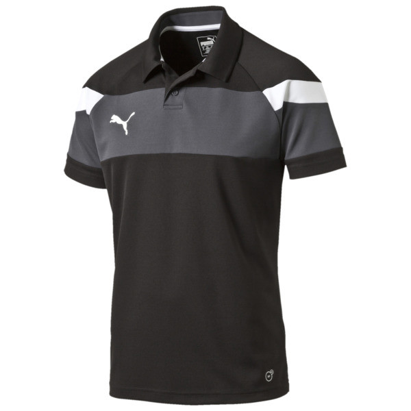 Football Spirit II Polo, black-white, large