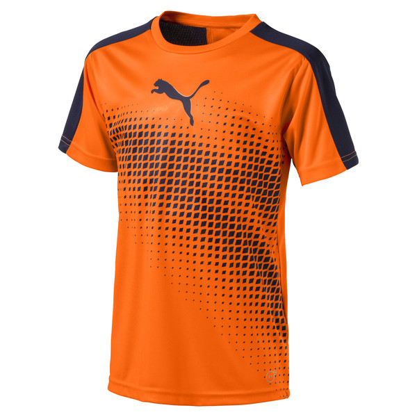 a730ed3914e evoTRG Kids' Graphic Football Training T-Shirt, Orange Clown Fish-Peacoat,