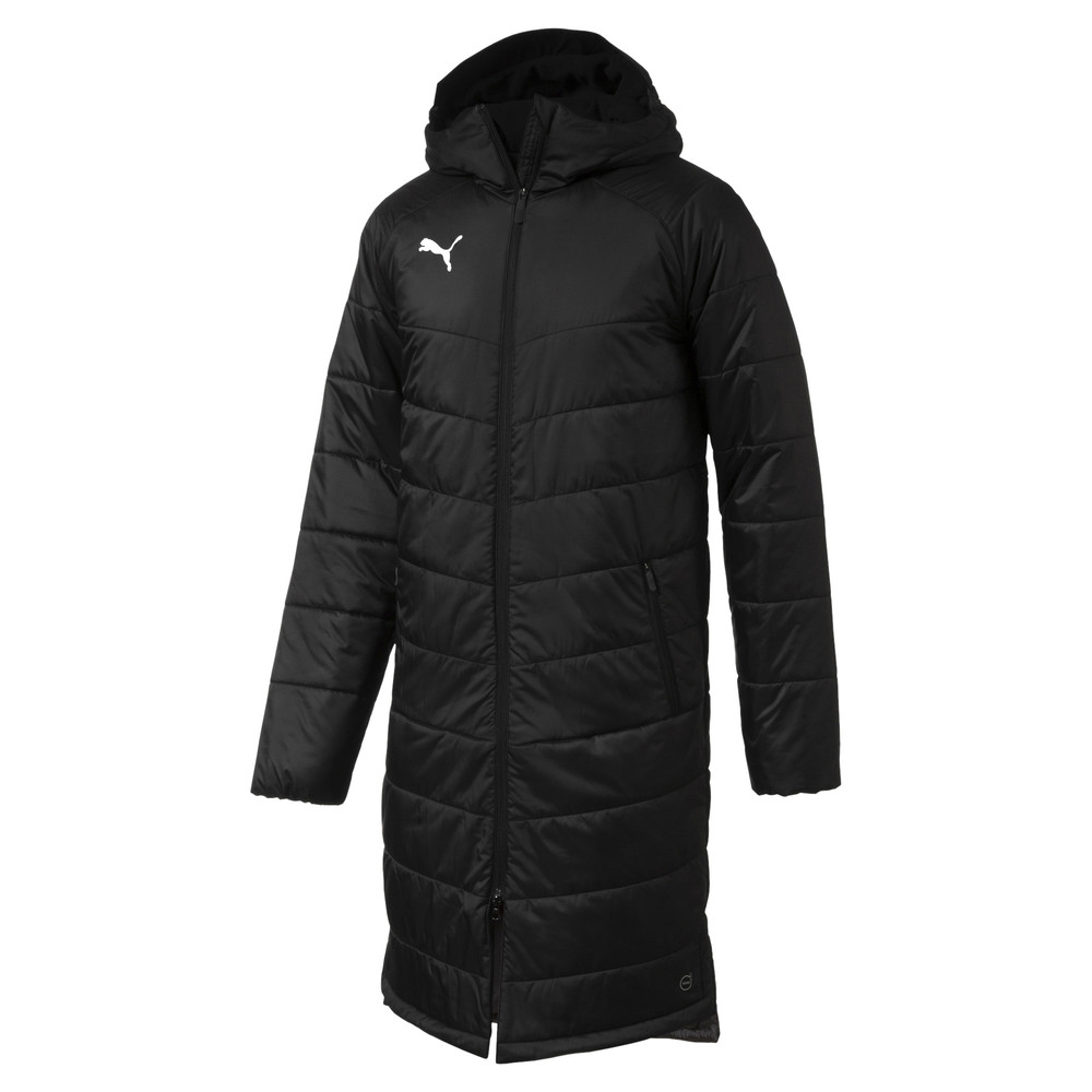 Купить Куртки и ветровки, PUMA - male - Куртка LIGA Sideline Bench Long Men's Jacket – Puma Black-Puma White – XL
