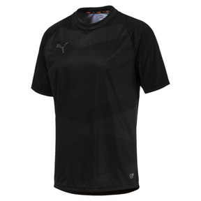 Thumbnail 1 of ftblNXT Graphic Core Men's Training Top, Puma Black-Iron Gate, medium