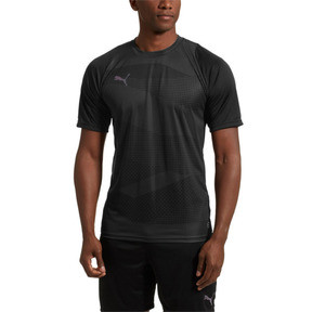 Thumbnail 2 of ftblNXT Graphic Core Men's Training Top, Puma Black-Iron Gate, medium