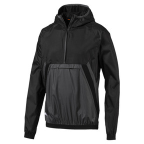 Thumbnail 1 of ftblNXT Men's Vent Thermo-R Windbreaker, Puma Black-Iron Gate, medium