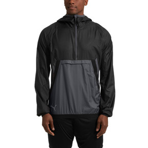 Thumbnail 2 of ftblNXT Men's Vent Thermo-R Windbreaker, Puma Black-Iron Gate, medium