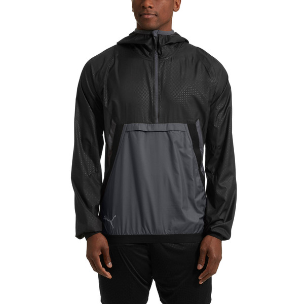 ftblNXT Men's Vent Thermo-R Windbreaker, Puma Black-Iron Gate, large