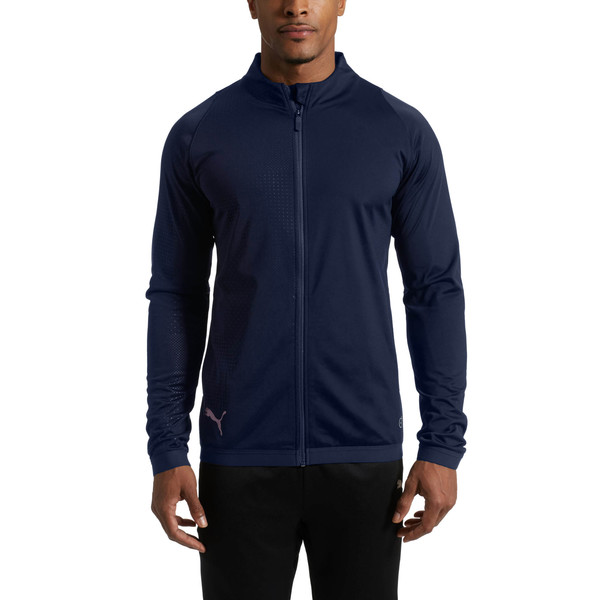 ftblNXT Zip-Up Men's Track Jacket, Peacoat, large
