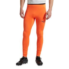 Thumbnail 2 of ftblNXT Long Men's Training Tights, Shocking Orange, medium