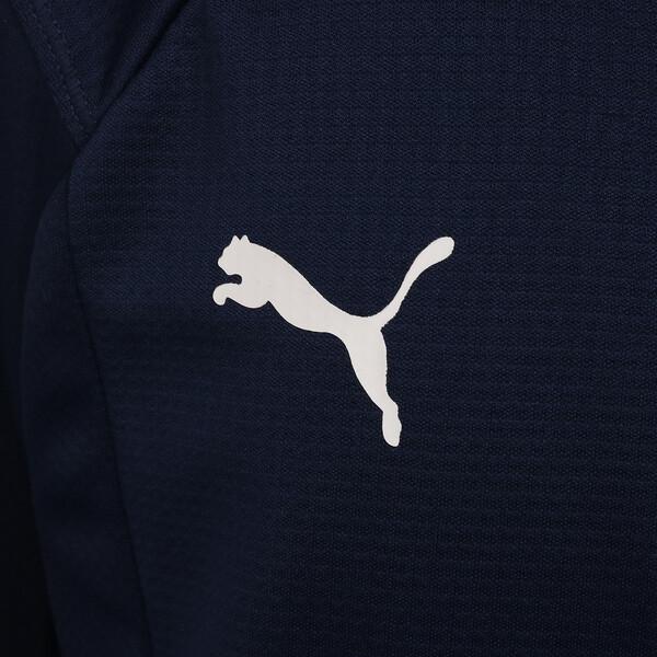 キッズ LIGA トレーニング 1/4 ジップトップ ジュニア, Peacoat-Puma White, large-JPN