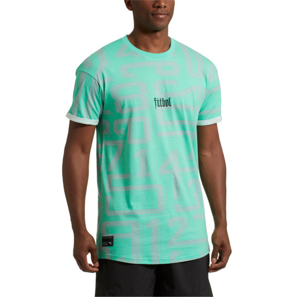 ftblNXT Casuals Graphic Men's Tee, Biscay Green, large