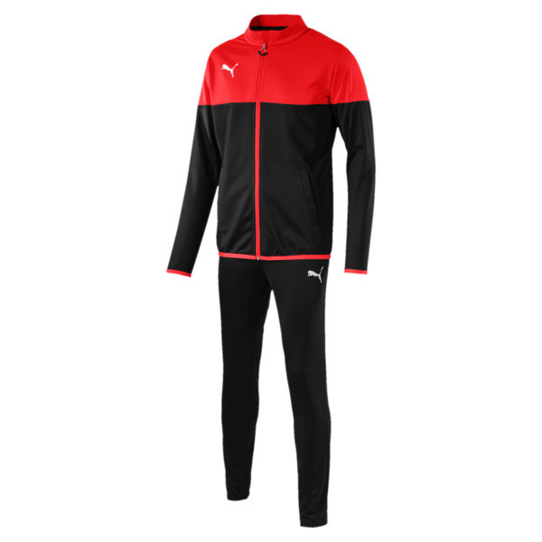 ftblPLAY Men's Track Suit, Red Blast-Puma Black, large