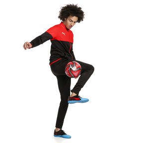 Thumbnail 1 of ftblPLAY Men's Track Suit, Red Blast-Puma Black, medium