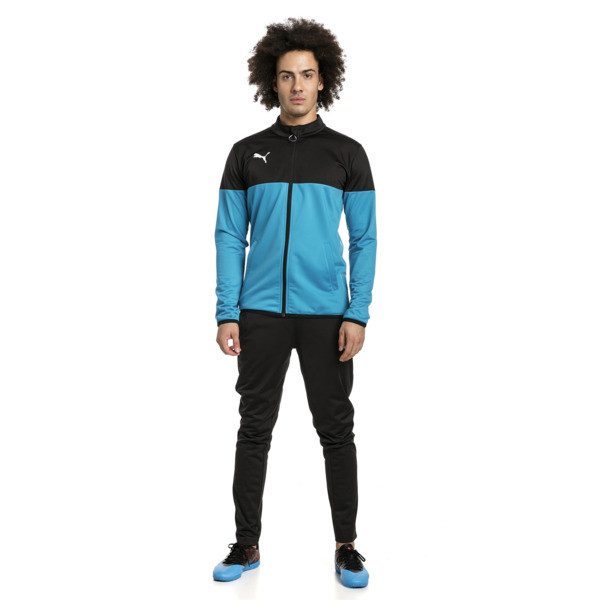 ftblPLAY trainingspak voor mannen, Puma Black-Caribbean Sea, large