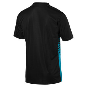 Thumbnail 5 of ftblPLAY Men's Graphic Shirt, Puma Black-Caribbean Sea, medium