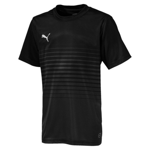 ftblPLAY Graphic Boys' Shirt, Asphalt-Puma Black, large