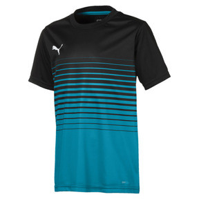 Thumbnail 1 of ftblPLAY Graphic Boys' Shirt, Puma Black-Caribbean Sea, medium