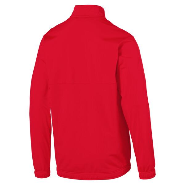 Chaqueta de fútbol de poliéster de hombre LIGA Sideline Core, Puma Red-Puma White, grande