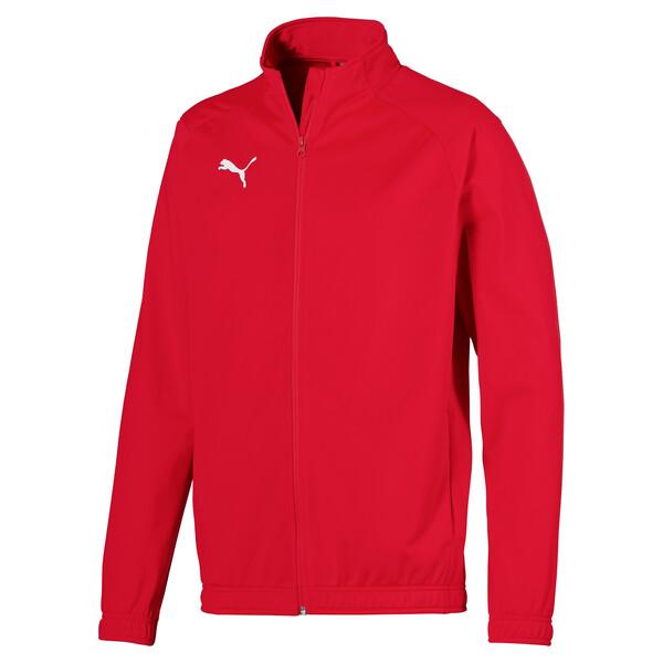 Football Men's LIGA Sideline Poly Core Jacket, Puma Red-Puma White, large
