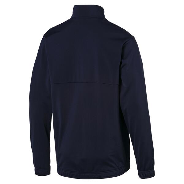 Fußball Herren LIGA Sideline Poly Core Jacke, Peacoat-Puma White, large