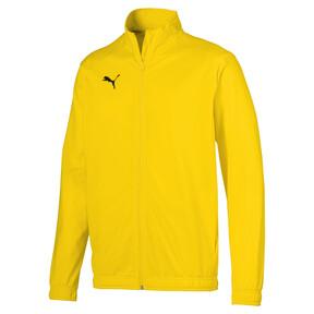 Imagen en miniatura 1 de Chaqueta de fútbol de poliéster de hombre LIGA Sideline Core, Cyber Yellow-Puma Black, mediana