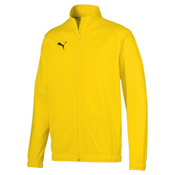 Chaqueta de fútbol de poliéster de hombre LIGA Sideline Core, Cyber Yellow-Puma Black, grande