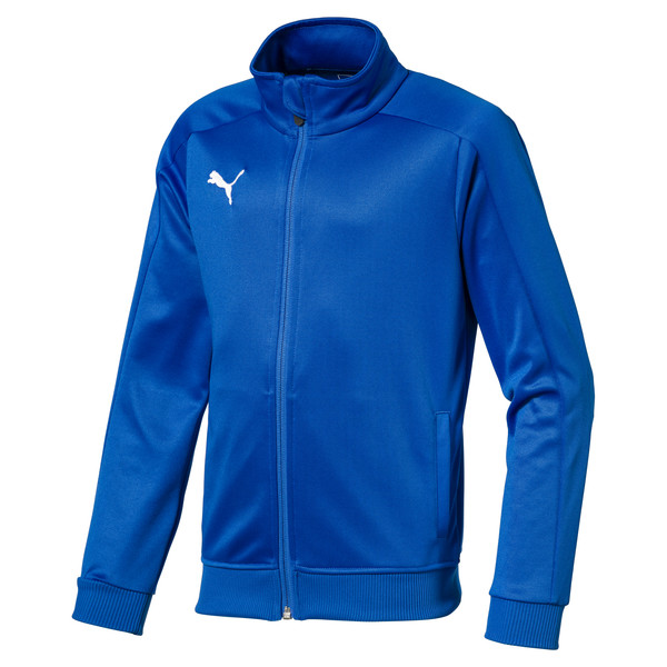 Football Kids' LIGA Casuals Track Jacket, Electric Blue Lemonade, large