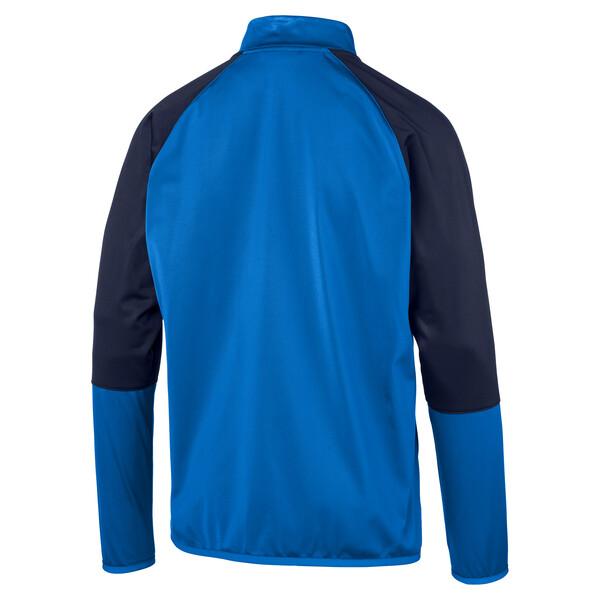 CUP Training Poly Core Men's Football Training Jacket, El. Blue Lemonade-Peacoat, large