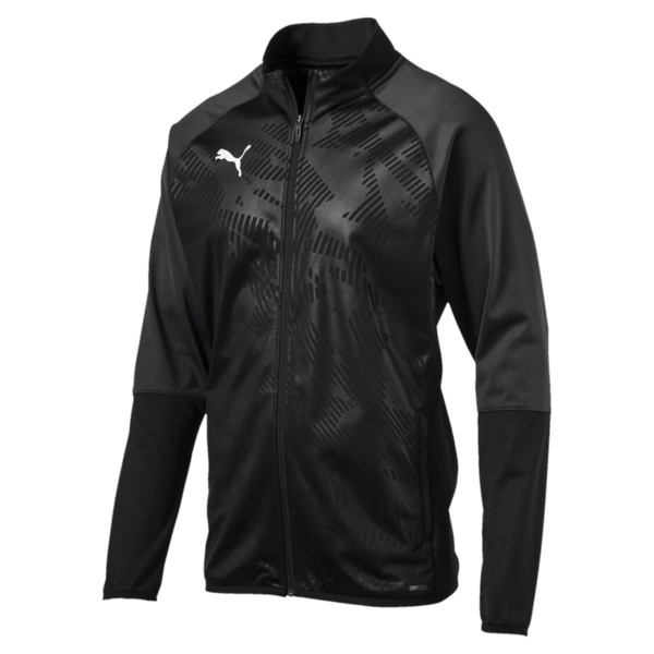 CUP Training Poly Core Herren Fußball Trainingsjacke, Puma Black-Asphalt, large
