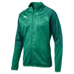 Thumbnail 4 of CUP Training Poly Core Men's Football Training Jacket, Pepper Green-Alpine Green, medium