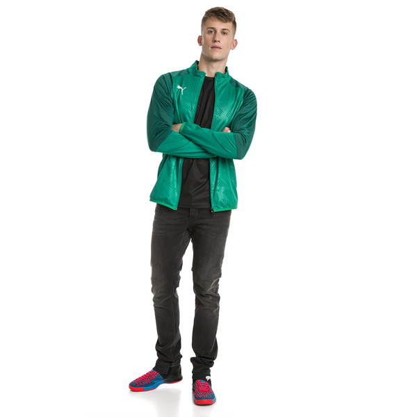 CUP Training Poly Core Men's Football Training Jacket, Pepper Green-Alpine Green, large