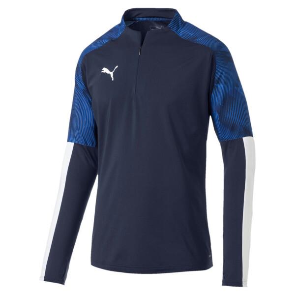 Sweatshirt de football CUP Training pour homme, Peacoat-Elec Blue Lemonade, large